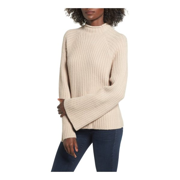 4SI3NNA bell sleeve sweater - Statement bell sleeves and supersoft fabric make this...