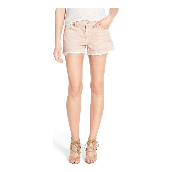 7 FOR ALL MANKIND 7 for all mankind released hem denim shorts - Frayed, released hems add time-worn character to...