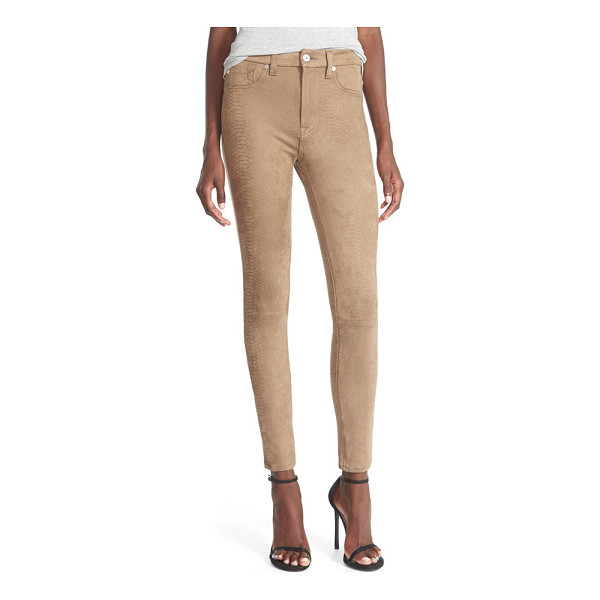7 FOR ALL MANKIND snakeskin embossed faux leather pants - Ankle-length skinny pants flaunt your figure in supple faux...