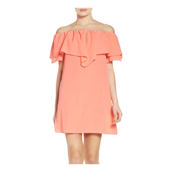 A BY AMANDA birch shift dress - Billowy layers make a romantic statement that works for day...