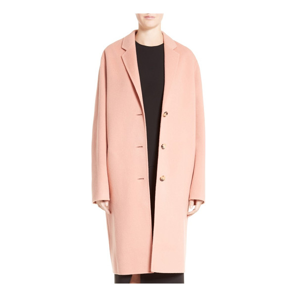 ACNE STUDIOS avalon wool & cashmere coat - A relaxed cocoon silhouette renders this sumptuous...