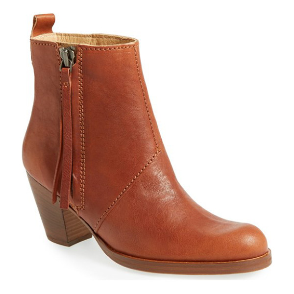 ACNE STUDIOS pistol bootie - A clean-lined profile underscores the on-trend attitude of...