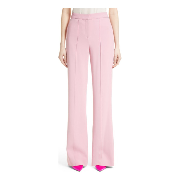 ADAM LIPPES stretch cady wide leg trousers - Cut with a long, languid silhouette that's punctuated by...