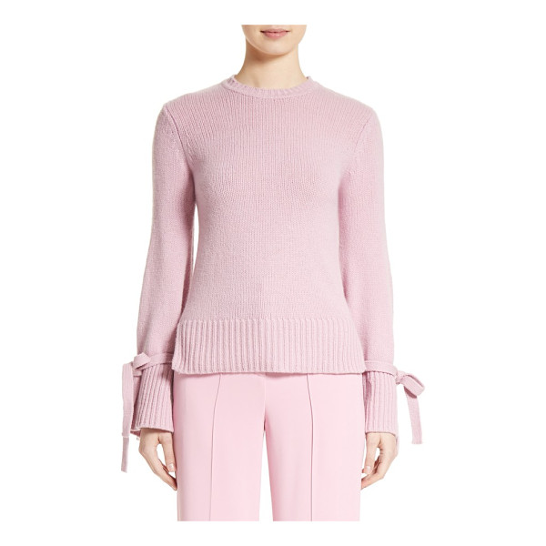 ADAM LIPPES wool & cashmere bell sleeve sweater - Belted cuffs draw close the flared bell sleeves of this...