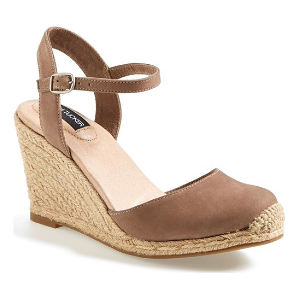ADAM TUCKER bethany wedge sandal - Extra padding lends cloud-soft comfort to an espadrille...