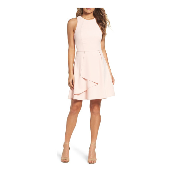 ADELYN RAE athena fit & flare dress - A cascading overlay deepens the pretty impact of this...