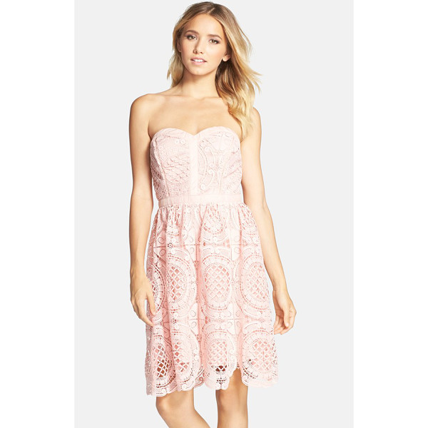 ADELYN RAE embroidered lace fit & flare dress - Special because of its forgiving structure and texture-plus...