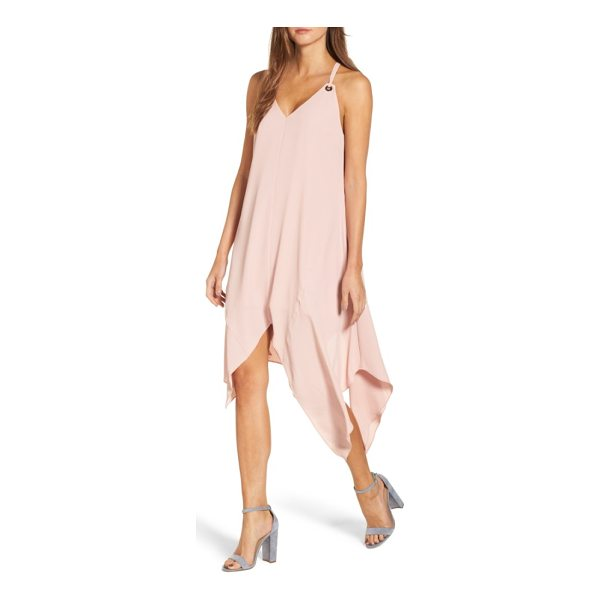 ADELYN RAE georgina shift dress - Wrap yourself in crisp, flowy crepe that flutters with...