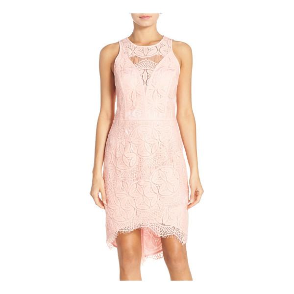 ADELYN RAE lace high/low sheath dress - Intricate lace patterns an ultra-flattering statement dress...