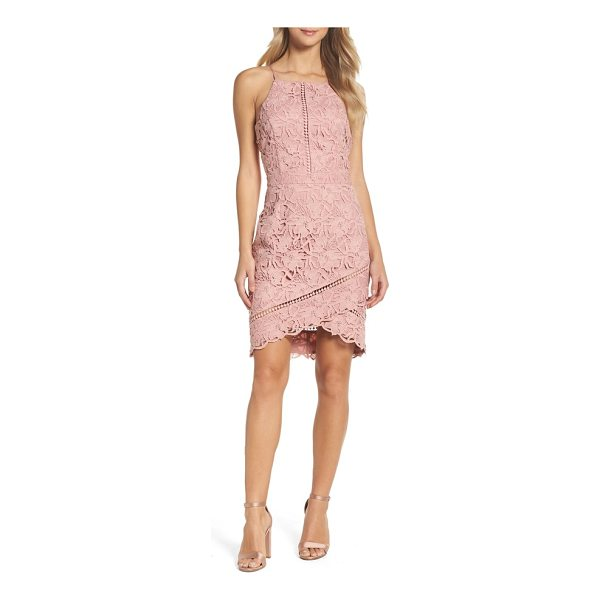 ADELYN RAE lace sheath dress - The classic sheath goes contemporary with floral lace,...