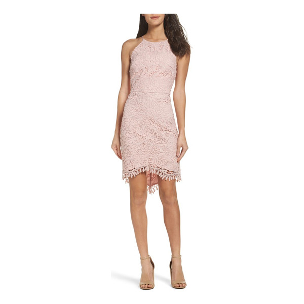 ADELYN RAE louise sheath dress - A floral lace overlay brings vintage romance to a...