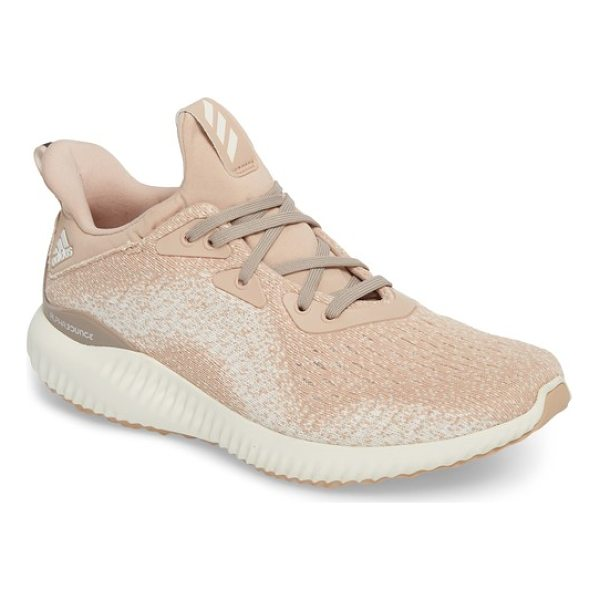 ADIDAS alphabounce em running shoe - A mesh upper hugs your feet as you take on the track or...