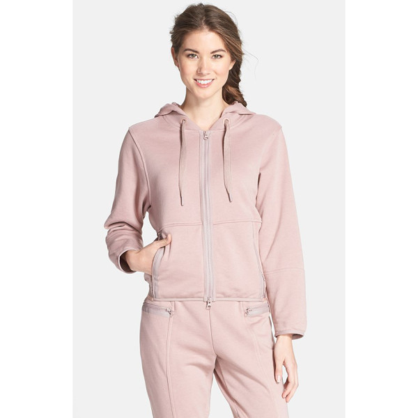 ADIDAS BY STELLA MCCARTNEY ess french terry hoodie - Tonal matte trim and a color-tipped elastic back hem style...