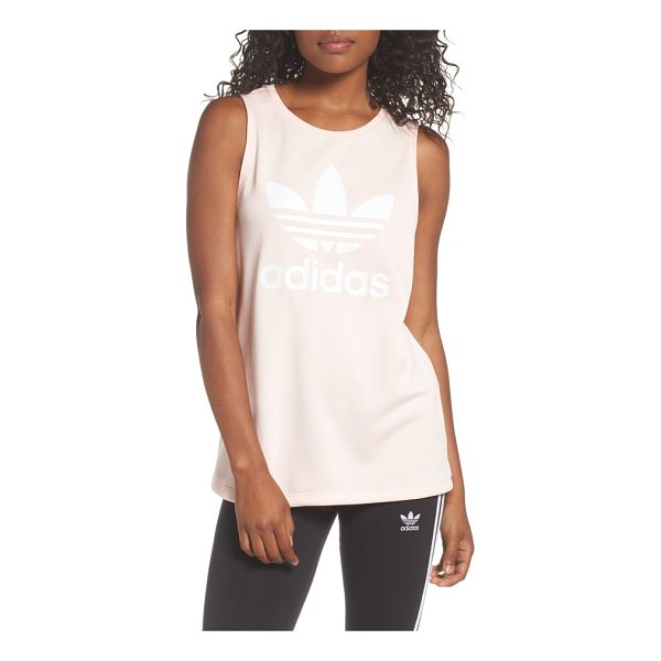ADIDAS loose fit trefoil logo tank - adidas' signature trefoil logo fronts a comfy sleeveless...