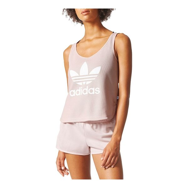 ADIDAS originals loose crop tank - Cut with a loose silhouette and stamped with a...