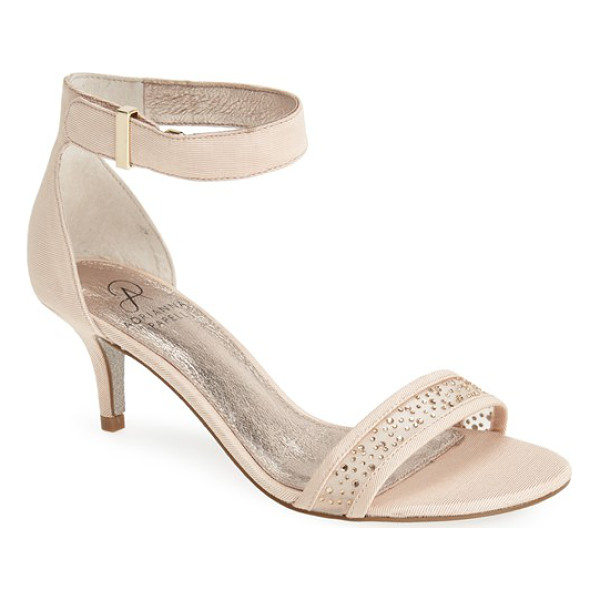 ADRIANNA PAPELL avril crystal mesh sandal - Tonal crystals twinkle from the mesh-inset toe strap of a...