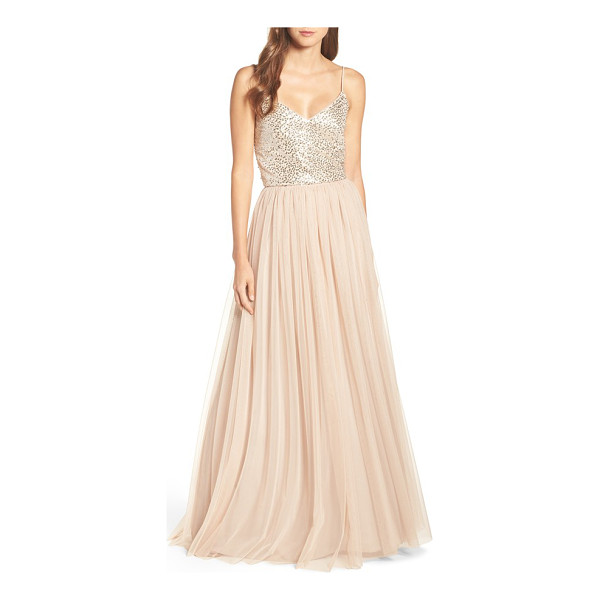 ADRIANNA PAPELL embellished two piece gown - Romantic and ethereal, this striking two-piece gown pairs a...
