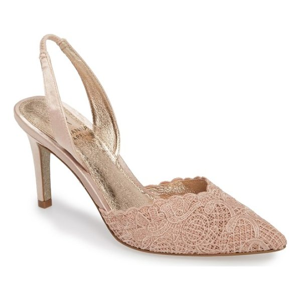ADRIANNA PAPELL hallie slingback pump - Pretty crocheted lace freshens the look of a pointy-toe...