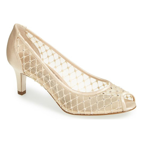 ADRIANNA PAPELL 'jamie' pump - Bejeweled diamond mesh glamorizes an exquisite pump with a...