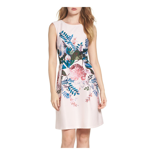ADRIANNA PAPELL placed print fit & flare dress - Placed to visually slim the figure, a rich botanical print...