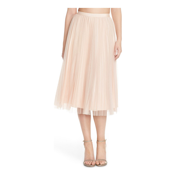 ADRIANNA PAPELL pleated tulle midi skirt - Accordion-pleated tulle gives this longline party skirt its...