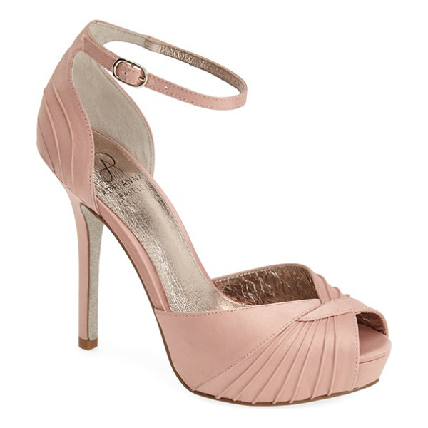 ADRIANNA PAPELL rebecca platform sandal - Pinched pleats radiate over the peep toe of a Art...
