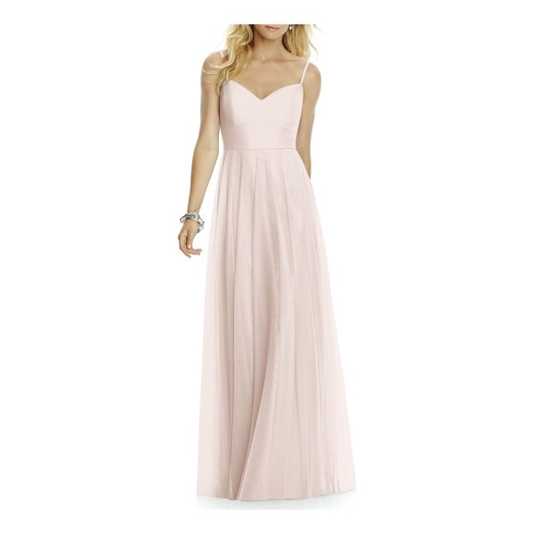 AFTER SIX sleeveless tulle a-line gown - Sophisticated and elegant, this softly voluminous gown is...