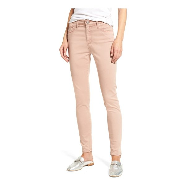 AG ADRIANO GOLDSCHMIED farrah high waist ankle skinny jeans - Super-versatile high-rise jeans are fashioned from faded...