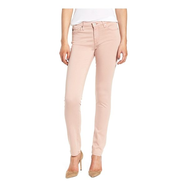 AG ADRIANO GOLDSCHMIED 'the prima' cigarette leg skinny jeans - Tonal stitching helps streamline the silhouette of...