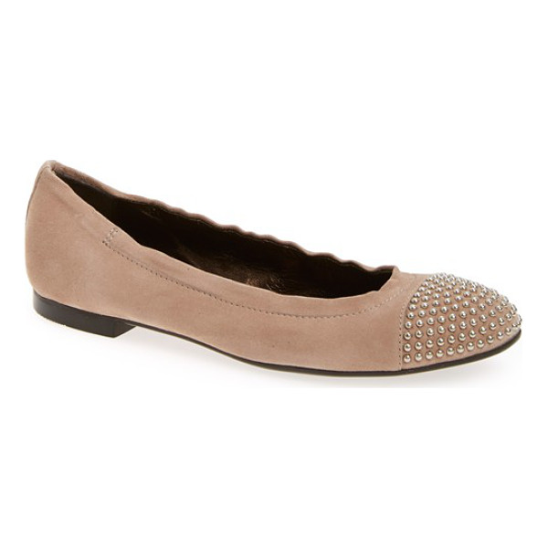 AGL 'blakely' studded cap toe ballet flat - Regimented rows of gleaming dome studs pepper the cap toe...