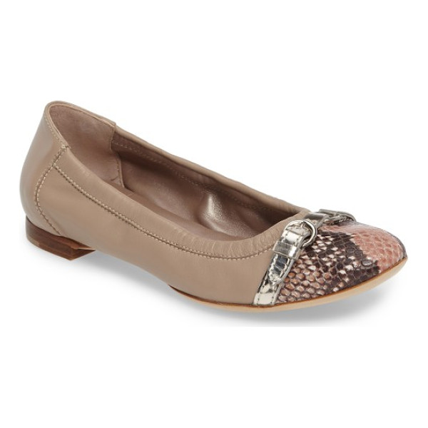 AGL cap toe ballet flat - A sleek cap toe is a refreshing upgrade for a versatile...