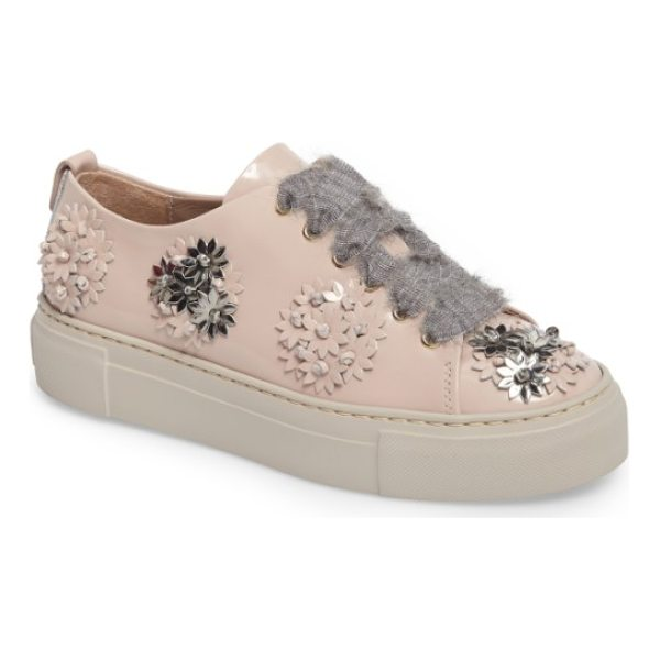 AGL flower platform sneaker - Knotted clusters of flowers bloom from toe to heel on a...