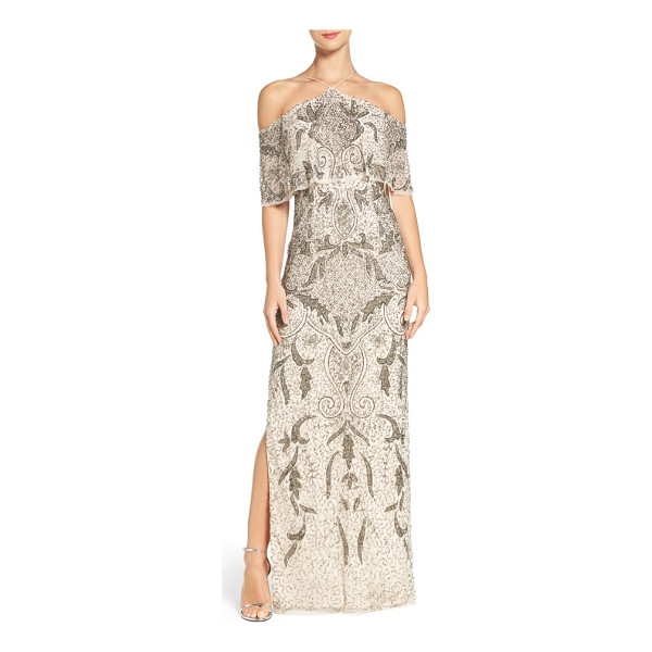 AIDAN MATTOX embellished mesh gown - As unique and memorable as you.