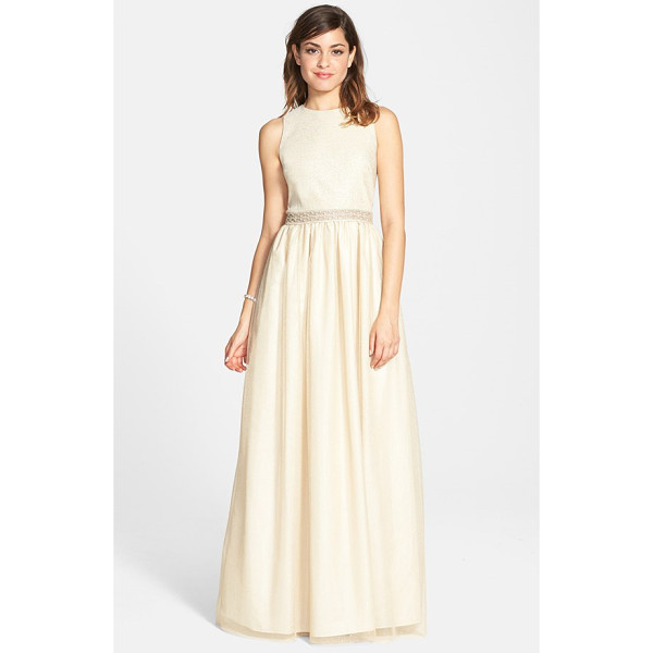 AIDAN MATTOX embellished princess ballgown - Airy, shimmering fabric perfectly suits the dreamy...