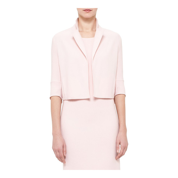 AKRIS double face wool crepe crop jacket - A softly blushed hue heightens the sophisticated femininity...