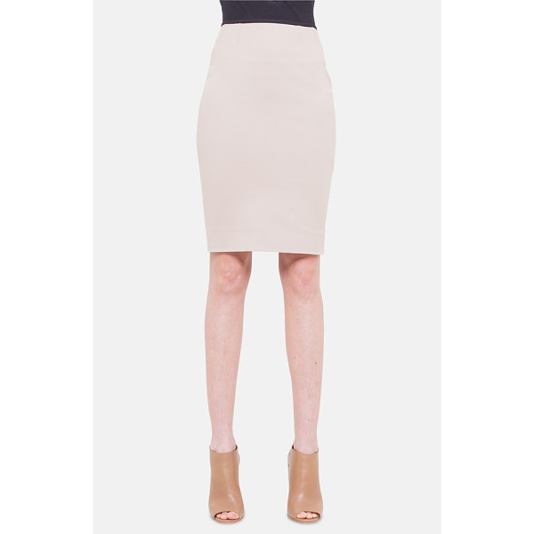 AKRIS PUNTO techno pencil skirt - A thin black waistband completes the modern aesthetic of a...