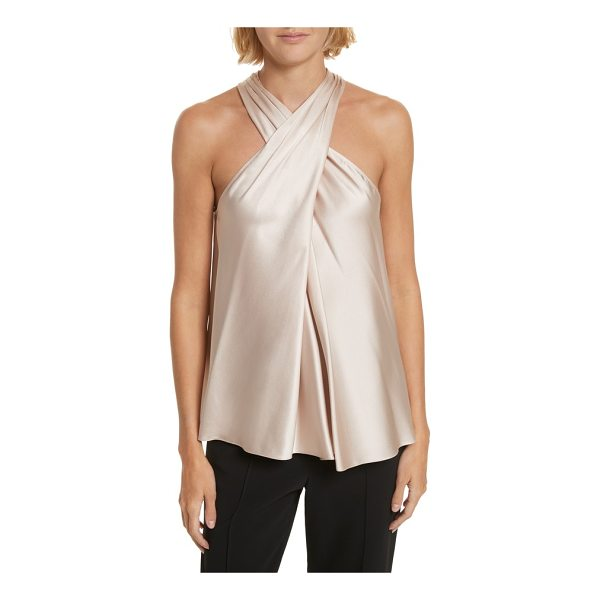 A.L.C. arvid silk blend halter top - This lustrous silk-blend top hangs from a delicately ruched...