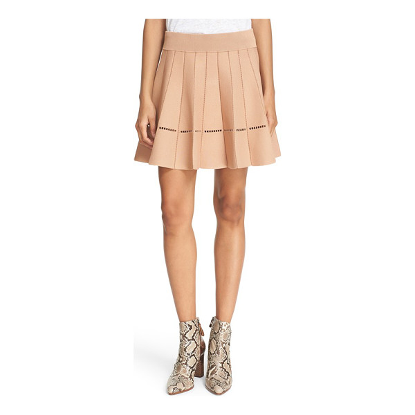 A.L.C. 'mari' pleated knit skirt - Openwork vertical seams highlight the playful pleats of a...