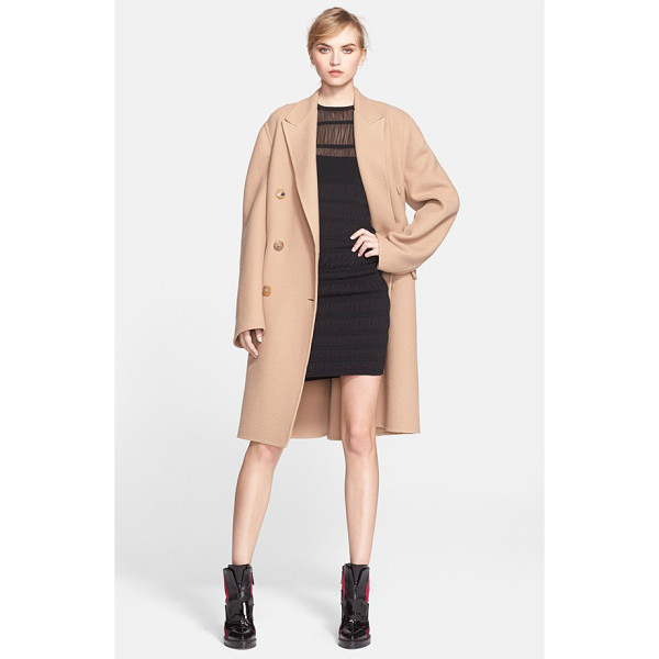 ALEXANDER MCQUEEN double face cashmere coat - Generously oversized proportions bolster the...