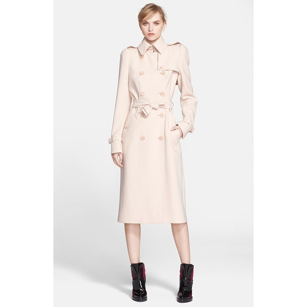 ALEXANDER MCQUEEN lightweight trench coat - Classic trench styling-including storm flaps, shoulder...