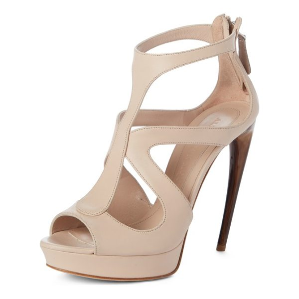 ALEXANDER MCQUEEN suede cage sandal - Alexander McQueen's showstopping cage sandal goes sultry in...