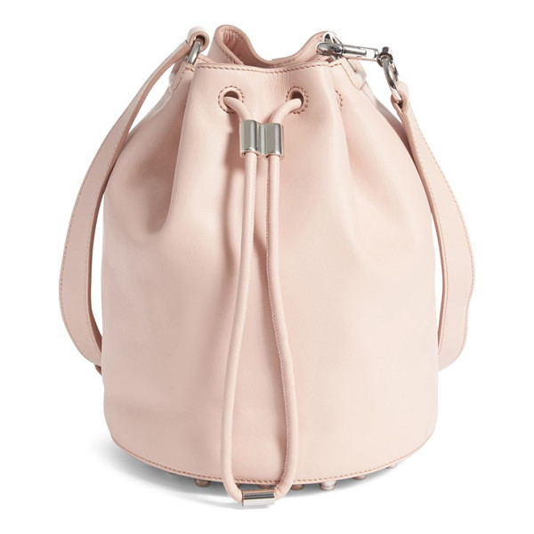 ALEXANDER WANG alpha leather bucket bag - A swath of silvertone studs spangling the bottom