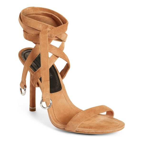 ALEXANDER WANG evie ankle tie sandal - A slender wraparound ankle tie furthers the leg-lengthening...