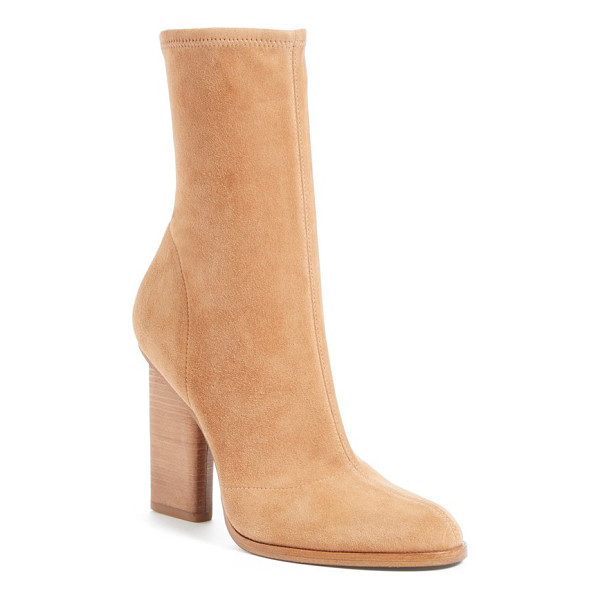 ALEXANDER WANG gia stretch boot - An inset stacked heel maintains the streamlined silhouette...