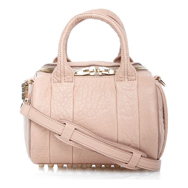 ALEXANDER WANG Mini rockie - Grained lambskin leather adds opulent texture to this...
