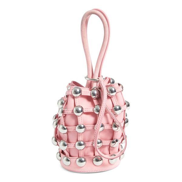 ALEXANDER WANG mini roxy studded suede bucket bag - A stud-embellished suede cage surrounds the slouchy leather...