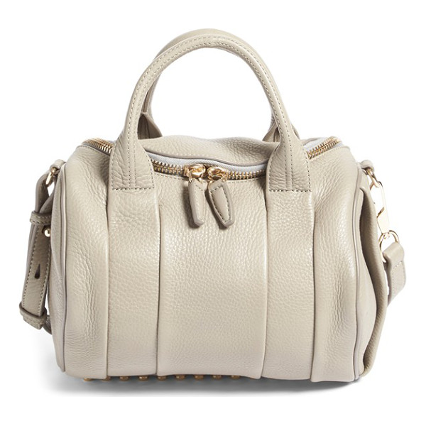 ALEXANDER WANG Rockie - Crafted from richly textured leather with a pale goldtone...