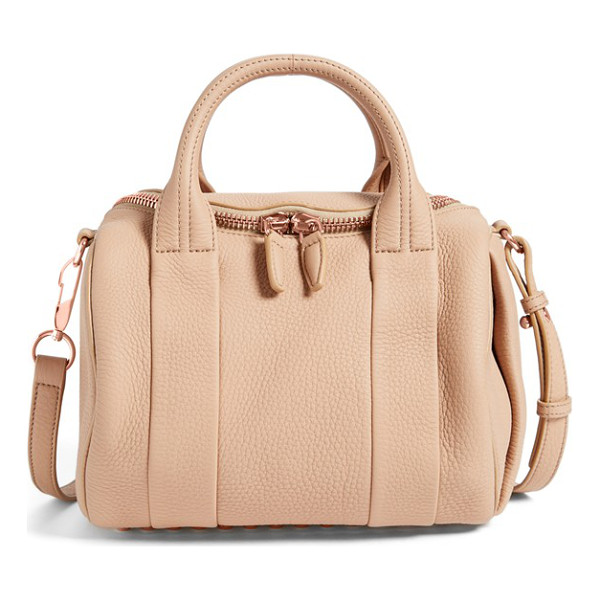 ALEXANDER WANG Rockie dumbo slick leather satchel - Lushly textured leather is shaped into the duffel-inspired...