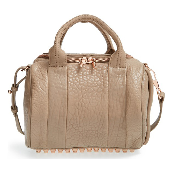 ALEXANDER WANG Rockie - Grained lambskin leather lends opulent texture to a zip-top...