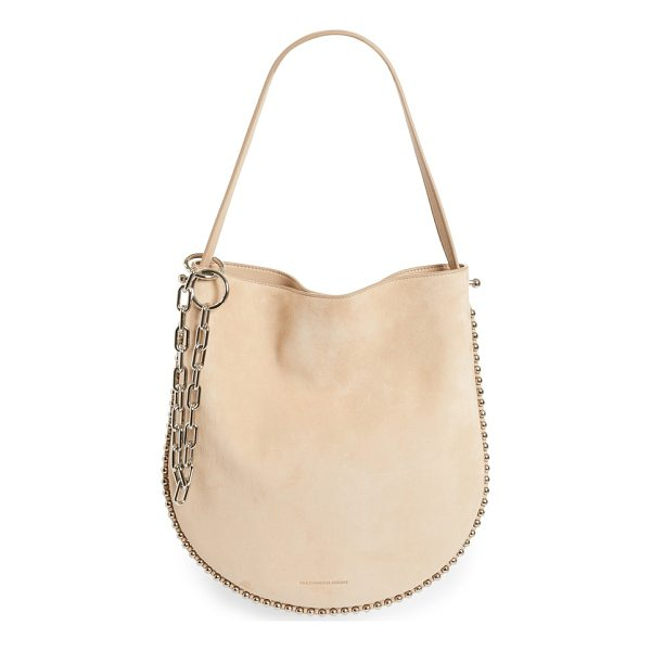 ALEXANDER WANG roxy suede hobo - A buttery-soft suede hobo edged in ball chain-inspired...